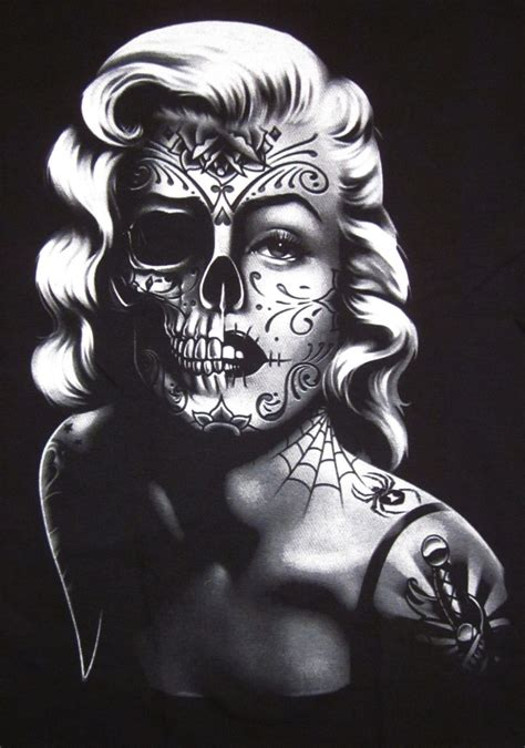 marilyn monroe with tattoos poster marilyn skull 10 marilyn skull posters