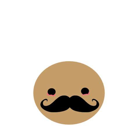 imagenes de emoticones kawaii carita kawaii con moustache e e by zoeconieditions on