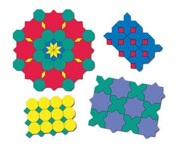 pattern block tessellations exles tessellation puzzles