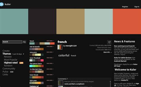 colour themes illustrator designeasy adobe kuler free color themes