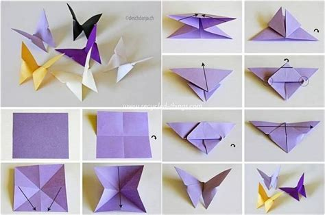 How To Make A Origami Butterfly - easy paper folding crafts recycled things
