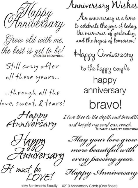 Wedding Anniversary Sentiments by Anniversary Sentiments Sentiments 4 Year