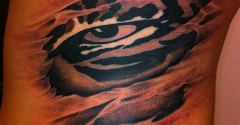 tattoo eye of the tiger first tattoo ever lsu eye of the tiger with a twist