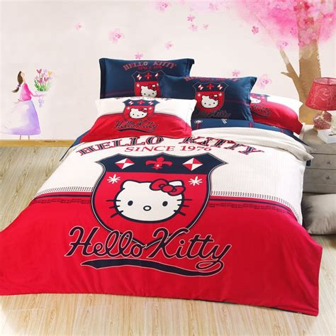 hello kitty full size comforter set british style new hello kitty bedding set for girls kids