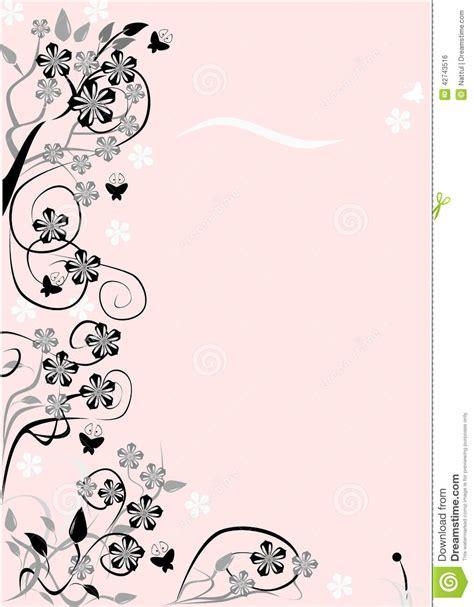 cornici per testo cornice di testo fiore illustrazione vettoriale