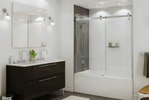 Bathroom Shower Doors Ideas Frameless Shower Doors Tub Ideas For Your Bathroom