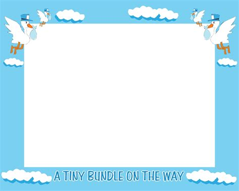 Baby Shower Boarder by 5 Best Images Of Free Printable Baby Shower Borders