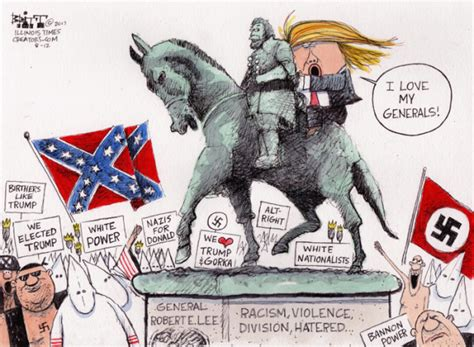 cartoons donald trump and the charlottesville protest