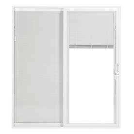 Sliding Door Blinds Lowes by Shop Thermastar By Pella 25 Series 70 75 In Blinds Between
