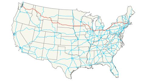 usa road map i 90 interstate 90