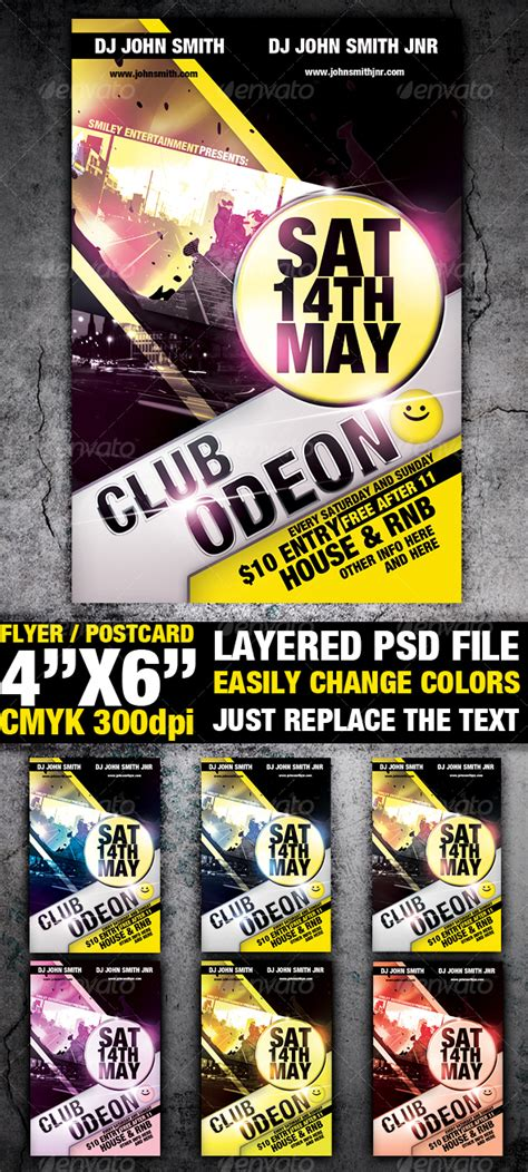 club flyers templates club flyer template club fliers