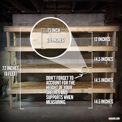 2x4 shelving plans diy 2x4 shelving for garage or basement dadand