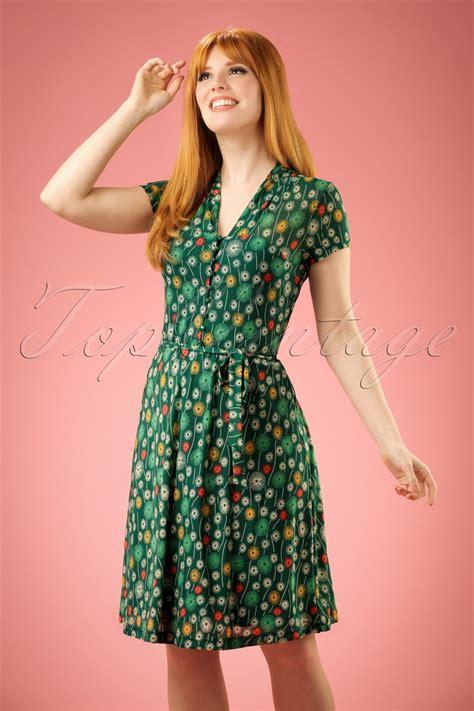 Dress Emmy 60s emmy dress in everglade green