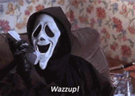 Scream Wazzup Meme - 90s gif find share on giphy