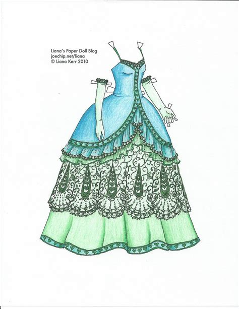 How To Make Paper Doll Dresses - liana s paper dolls dress coloured by