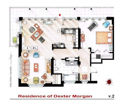 xavicuevas   Floor plans of homes from famous TV shows
