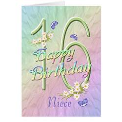 free niece birthday cards niece 16th birthday butterflies and flowers card zazzle