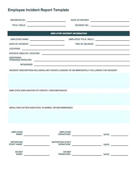incident report form template uk report form templates virtuart me