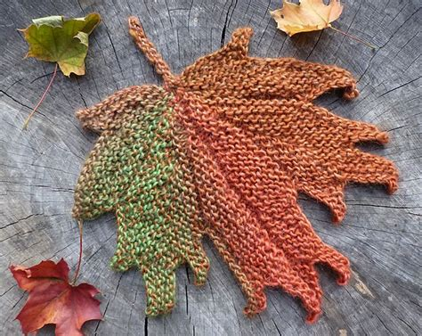 leaf pattern for knitting decorative knitted maple leaf pattern by svetlana gordon