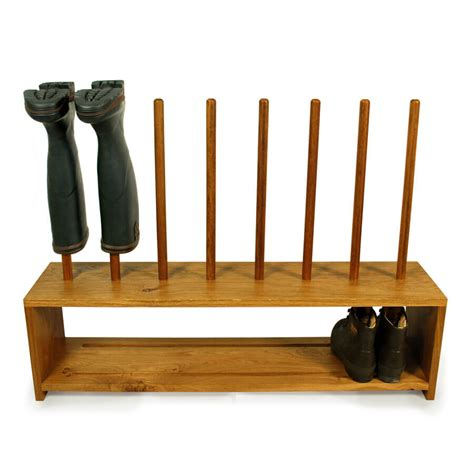 To The Rack Oak Wellington And Shoe Rack 4 Pair