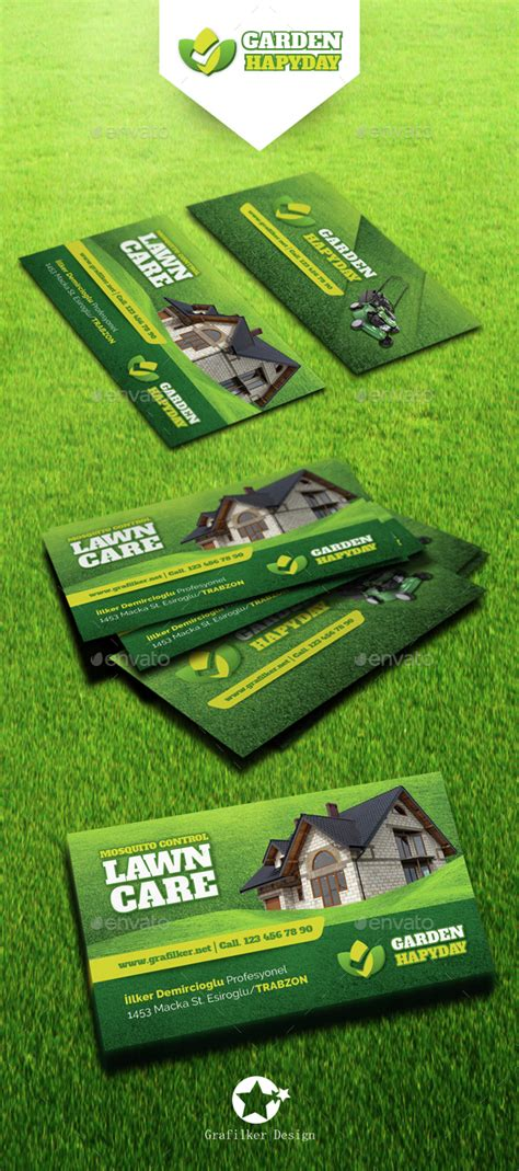 gardening business cards templates garden landscape business card templates by grafilker graphicriver