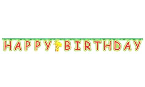 Hbd Letter Banner Big jungle buddies quot happy birthday quot jointed letter banner