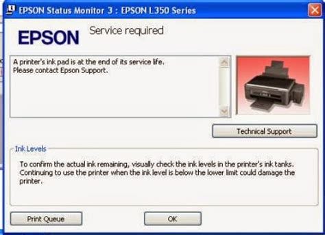 cara reset printer epson l110 lu berkedip mengatasi a printer s ink pad is at the end of its service