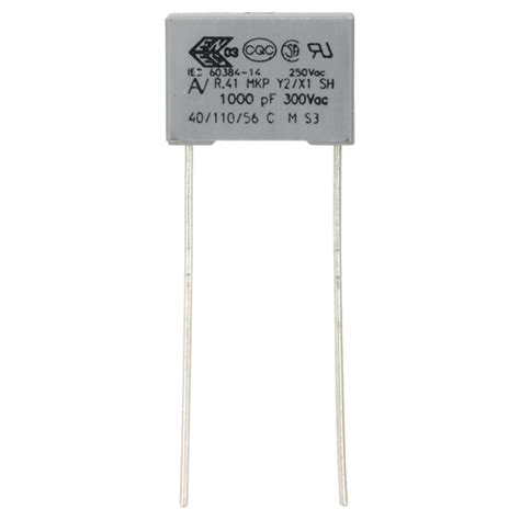 capacitor y2 rating 22nf 300v 15mm class y2 capacitor