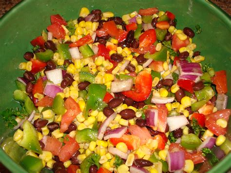 cold salad friday feast cold corn and bean salad kate schmate