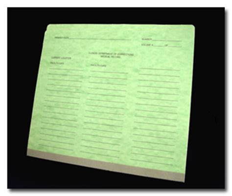 probation color code system prison inmate record folder correctional