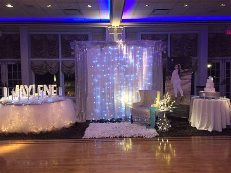 winter decorations sweet 16 backdrop for a princess winter sweet 16 winter sweet 16
