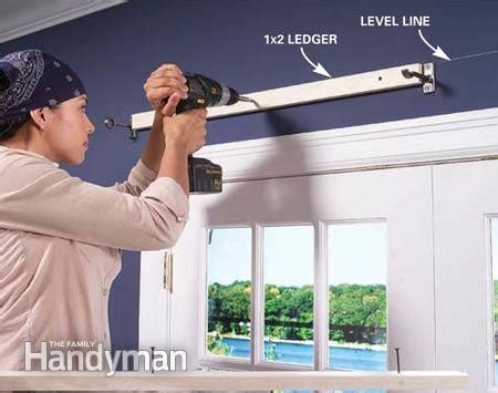 Install Cornice how to build window cornices the family handyman