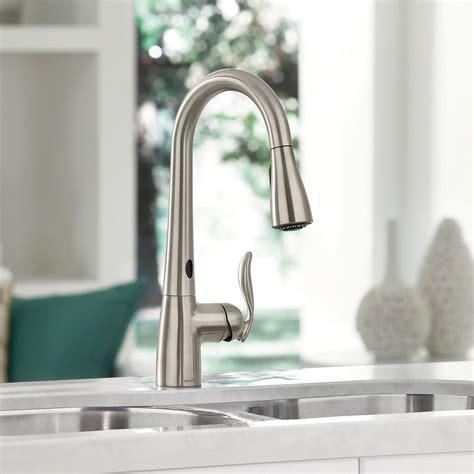 touchless kitchen faucets moen with motionsense technology sublime gadgets moen arbor motionsense touchless faucet