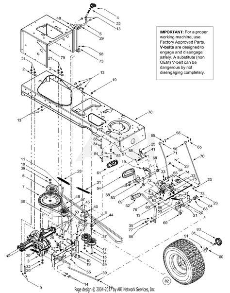 Mtd 13au608h016 2002 Parts Diagram For Drive Controls