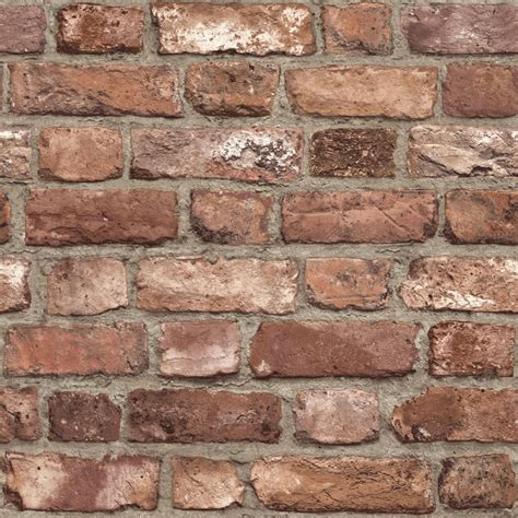 brick effect wallpaper slate stone realistic textured