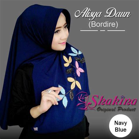 Terbaru Jilbab Alisya Daun Bordire fashion terbaru 2017 instan alisya daun