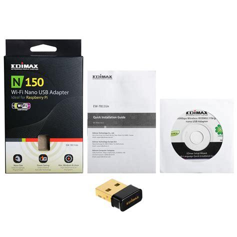 Edimax Ew 7811un 150mbps Wireless Ieee80211bgn Nano Usb Adapter edimax adaptadores inal 225 mbricos n150 150mbps