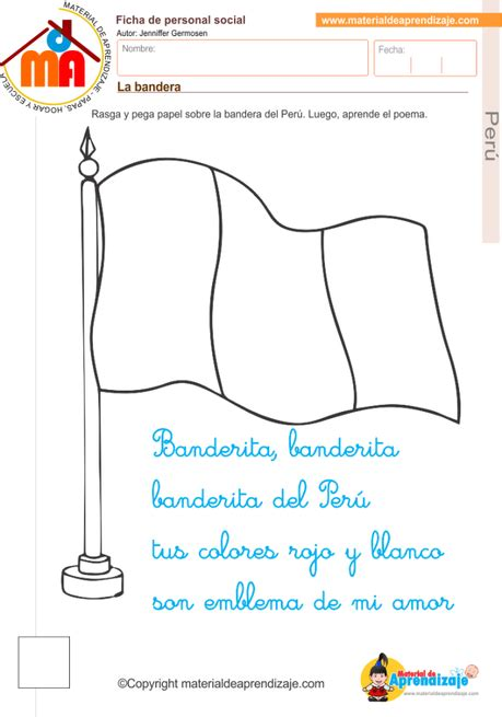 letra de cancion banderita banderita peru la bandera del per 250 paperblog