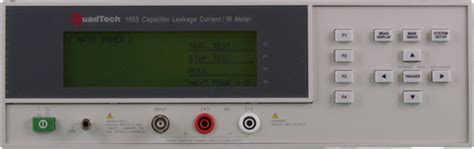 quadtech 1855 capacitor leakage current ir meter quadtech test equipment connection 与 测仪联系 美国 有限公司 连结一起