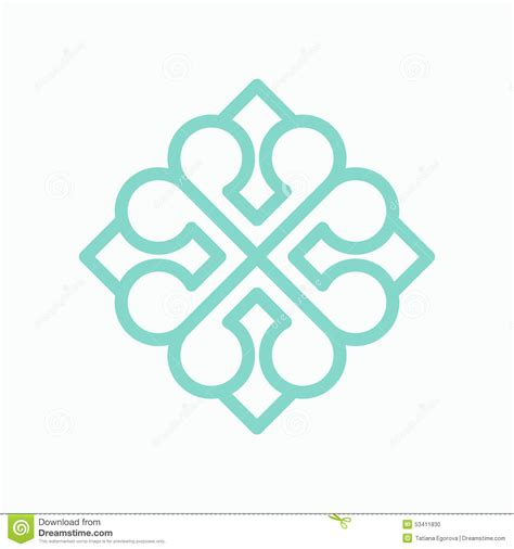 pattern logos design geometric arabic logo pattern stock vector illustration