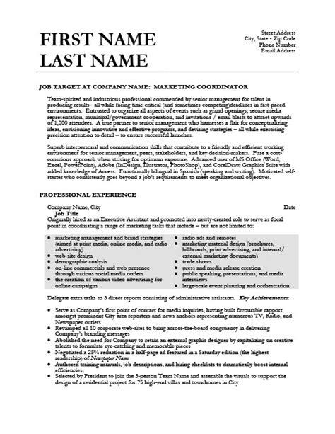 sample marketing coordinator resume marketing coordinator resume