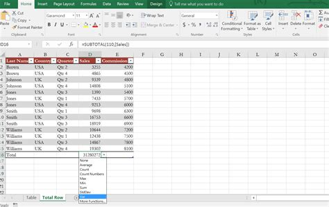 Total Table by How To Insert Or Delete Rows And Columns From Excel Table