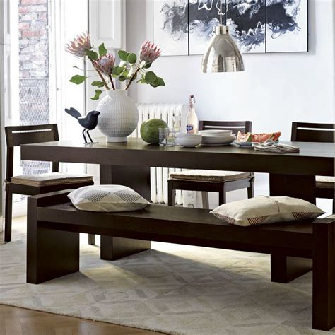 west elm terra dining table bench kitchen design