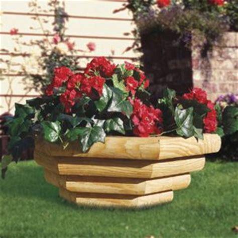 Landscape Timber Hexagon Landscape Timber Bowl Planter Craft Ideas