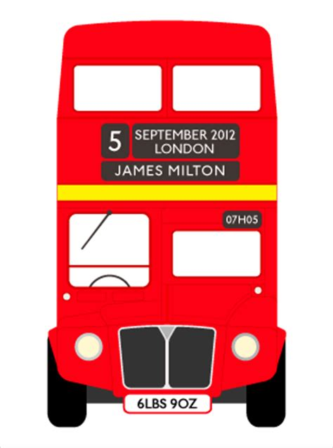 Personalised Name Wall Stickers For Kids london bus red routemaster personalised pictures