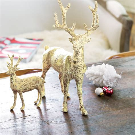 Paper Mache Reindeer Craft - papier m 226 ch 233 reindeer all gifts sale olive cocoa