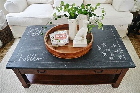 diy chalk paint coffee table ideas chalkboard top coffee table makeover liz
