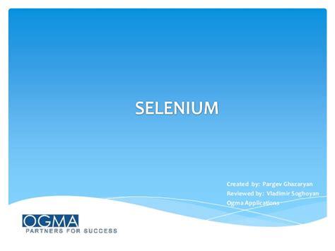 selenium tutorial powerpoint slides selenium