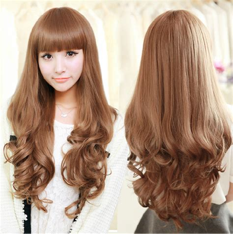 new fashion hairstyle high quality long curly wig girls