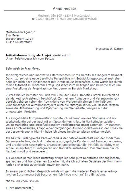 Initiativbewerbung Anschreiben Audi Bewerbung Projektassistent In Berufseinsteiger Sofort
